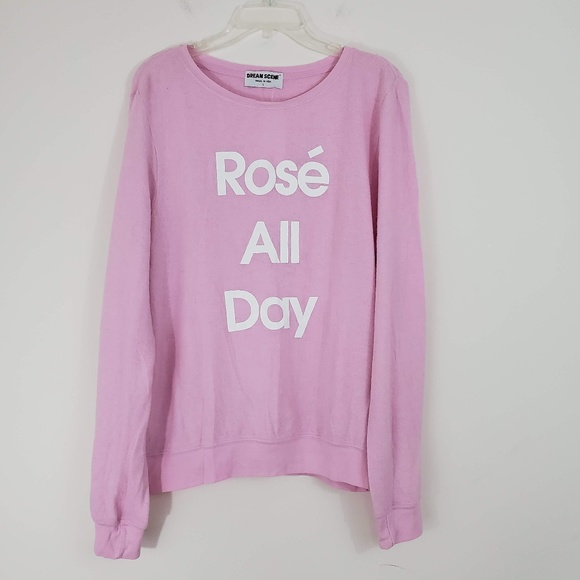 Dream Scene Tops - Rose All Day Graphic Sweatshirt - NWT!